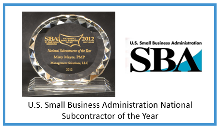 2012 U.S. Small Business Administration National Subcontractor of the Year